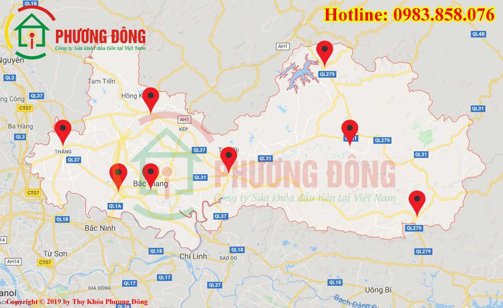 Địa chỉ thợ sửa khóa lưu động tại Bắc Giang