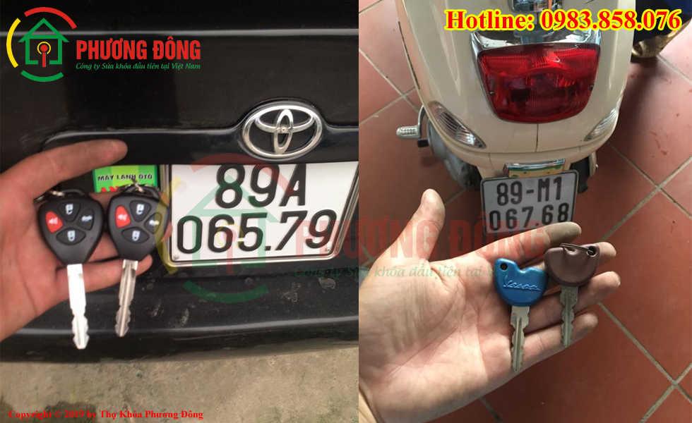 Thợ khóa Phương Đông đã đánh chìa khóa thành cho khách hàng tại Hưng Yên