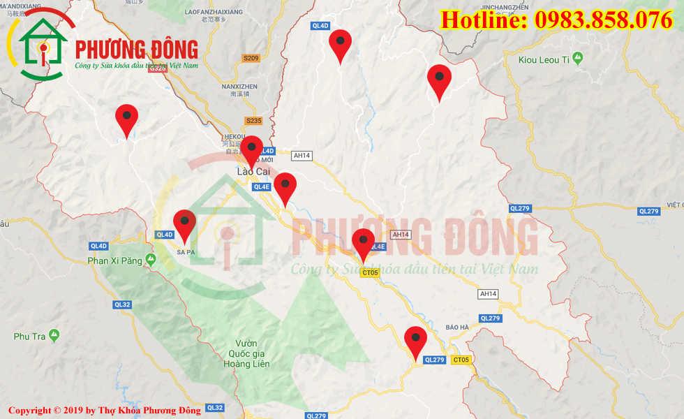 Địa chỉ thợ sửa khóa lưu động tại Lào Cai