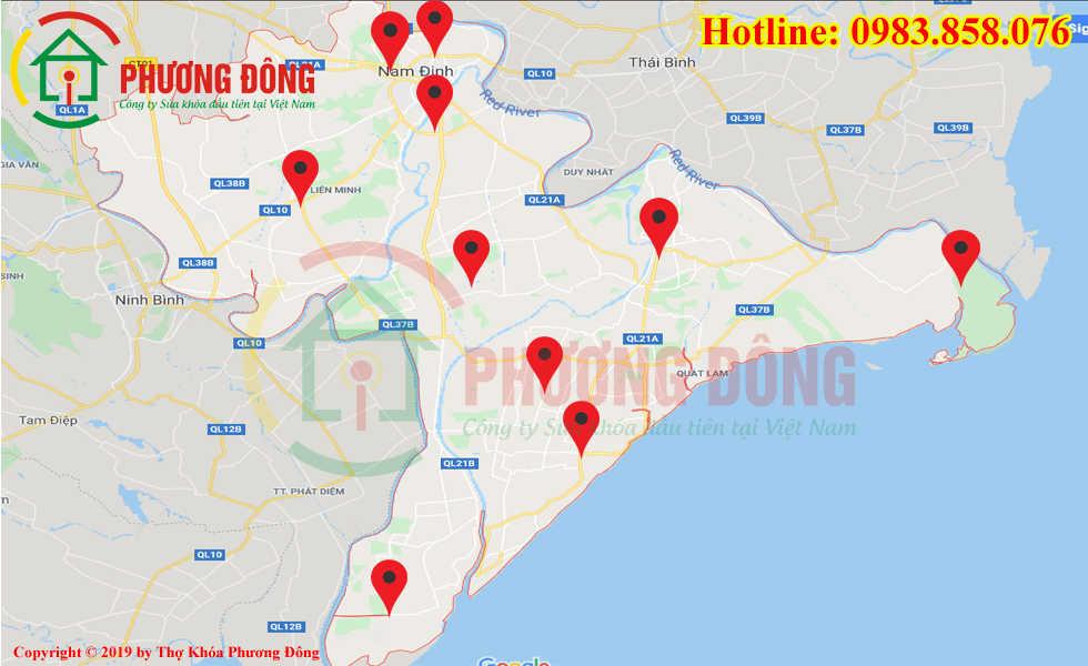 Địa chỉ thợ sửa khóa lưu động tại Nam Định