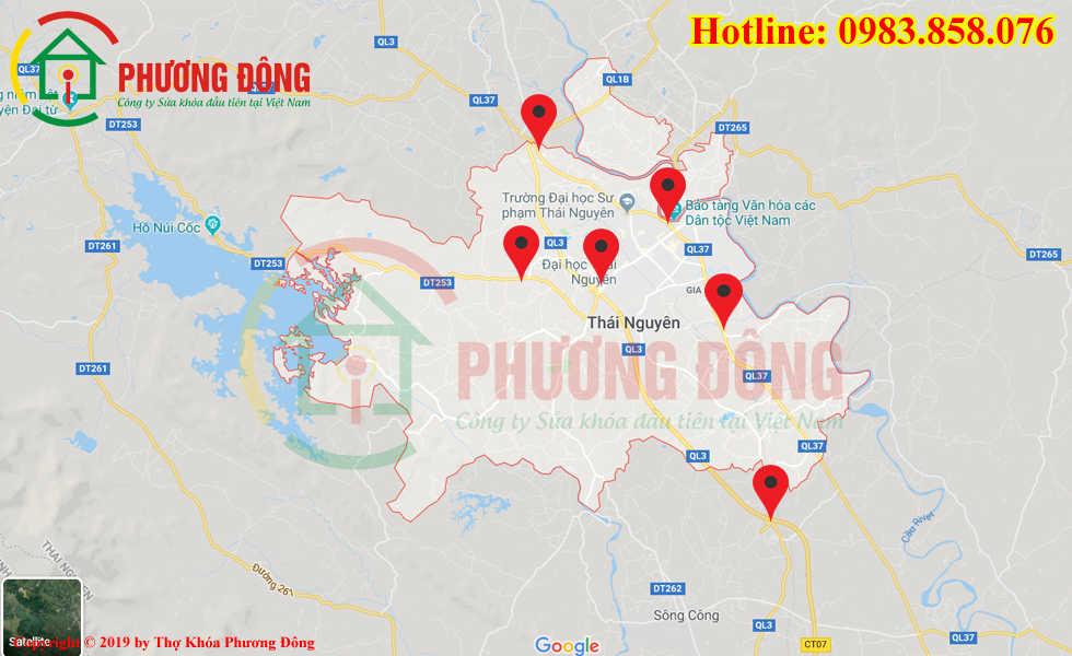 Địa chỉ thợ sửa khóa lưu động tại Thái Nguyên