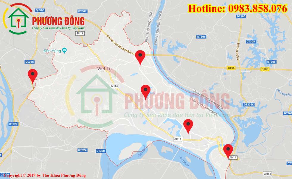 Địa chỉ thợ sửa khóa lưu động tại Việt Trì