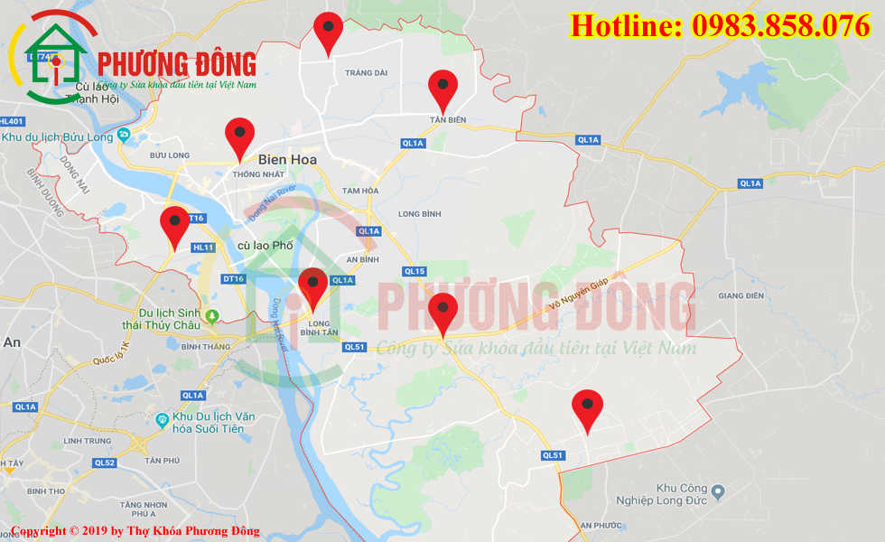 Địa chỉ thợ sửa khóa lưu động tại Biên Hòa