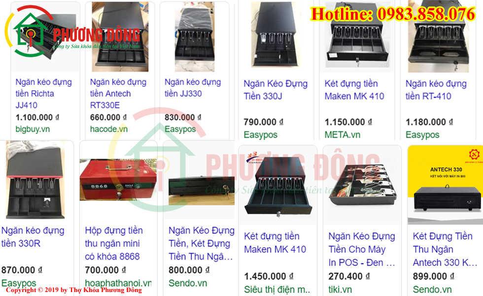 Một số loại két sắt thu ngân và giá tiền