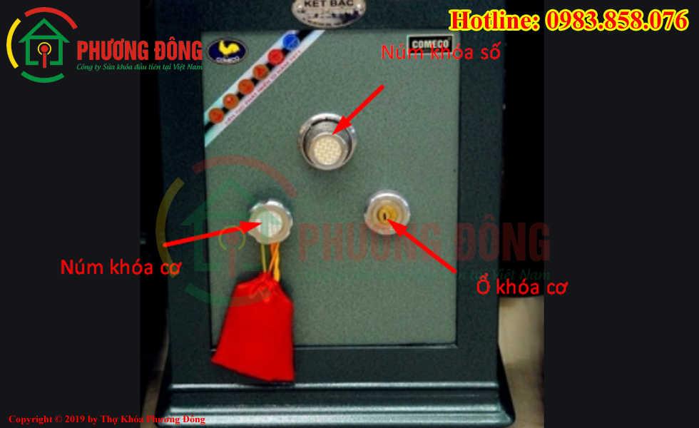 Các chi tiết bên ngoài của két bạc comeco