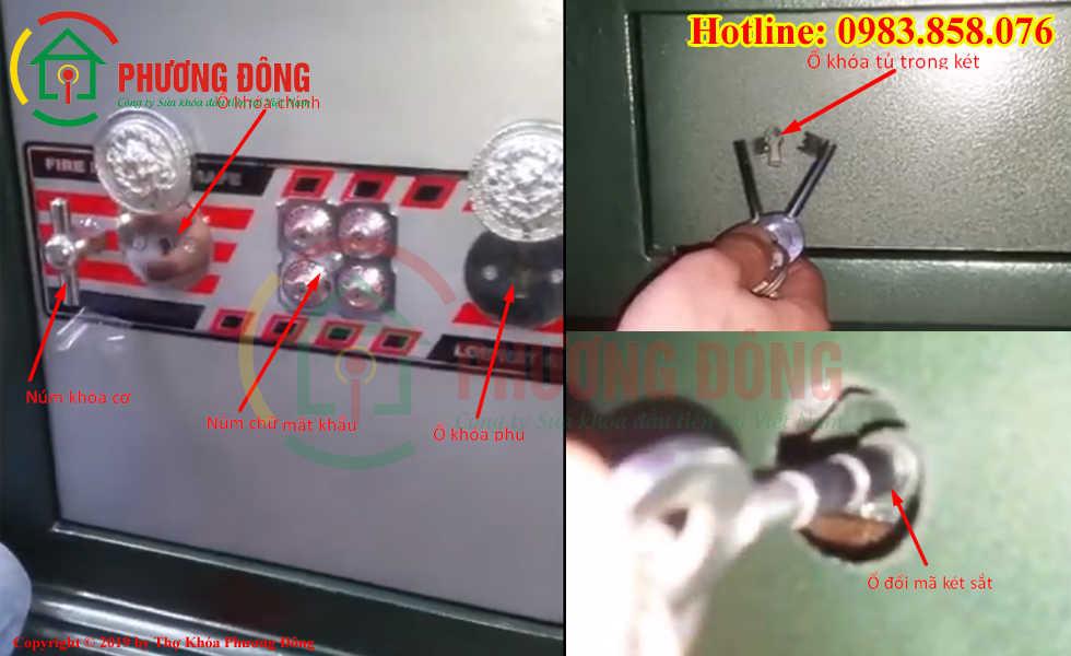 Các chi tiết cơ bản của két sắt núm chữ lợi phát