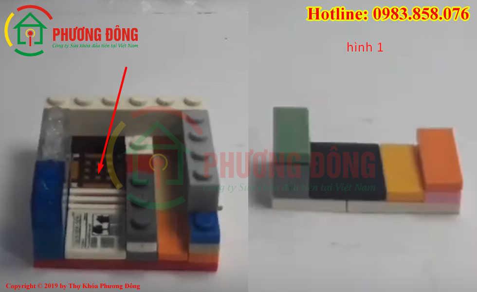 Lắp lego hình 1 vào mũi tên chỉ định