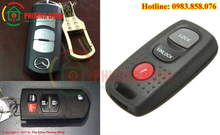 Thay pin chìa khóa mazda