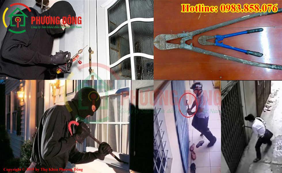Dụng cụ trộm phá khóa nhà