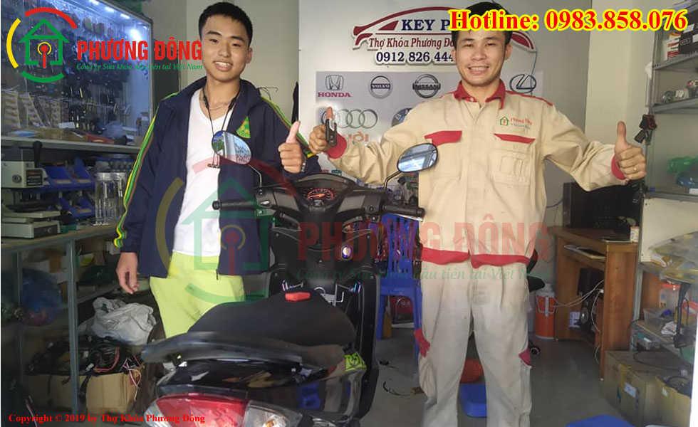 Lắp Ổ khóa Smartkey Honda cho xe Wave