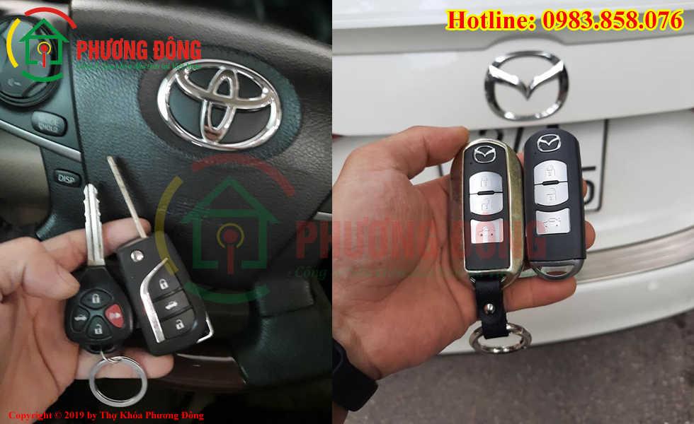 Thợ khóa Phương Đông đánh lại chìa khóa ô tô cho khách