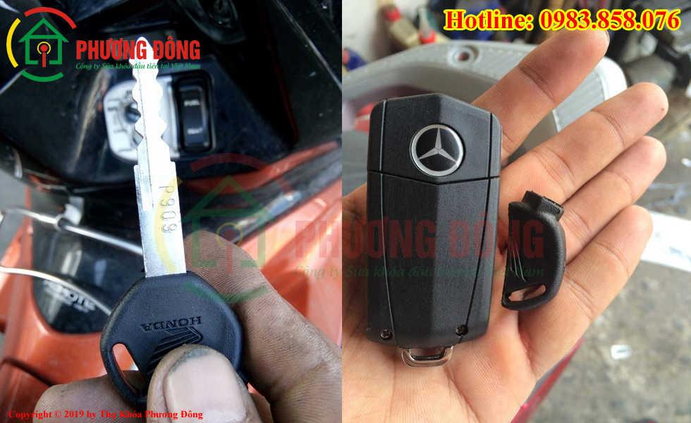 Đánh chìa khóa xe máy cho khách tại Vĩnh Phúc