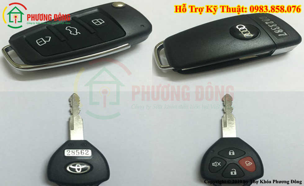 Đánh chìa khóa ô tô  tại Yên Bái