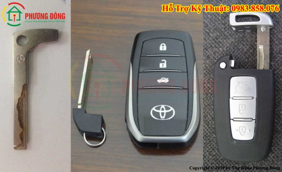 Làm chìa khóa xe hơi phụ trong cho khóa smartkey thông minh