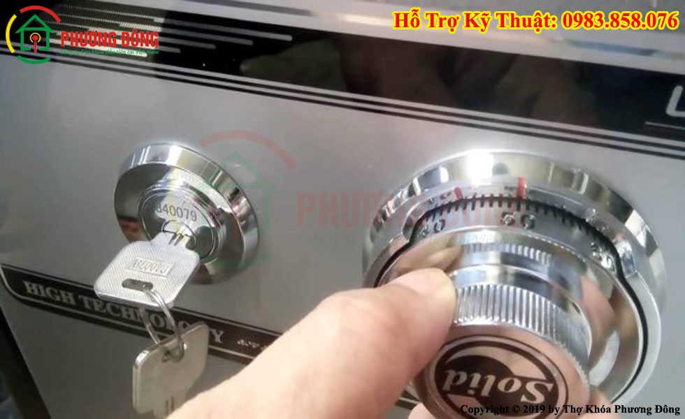 Cách mở két sắt 1 mã số