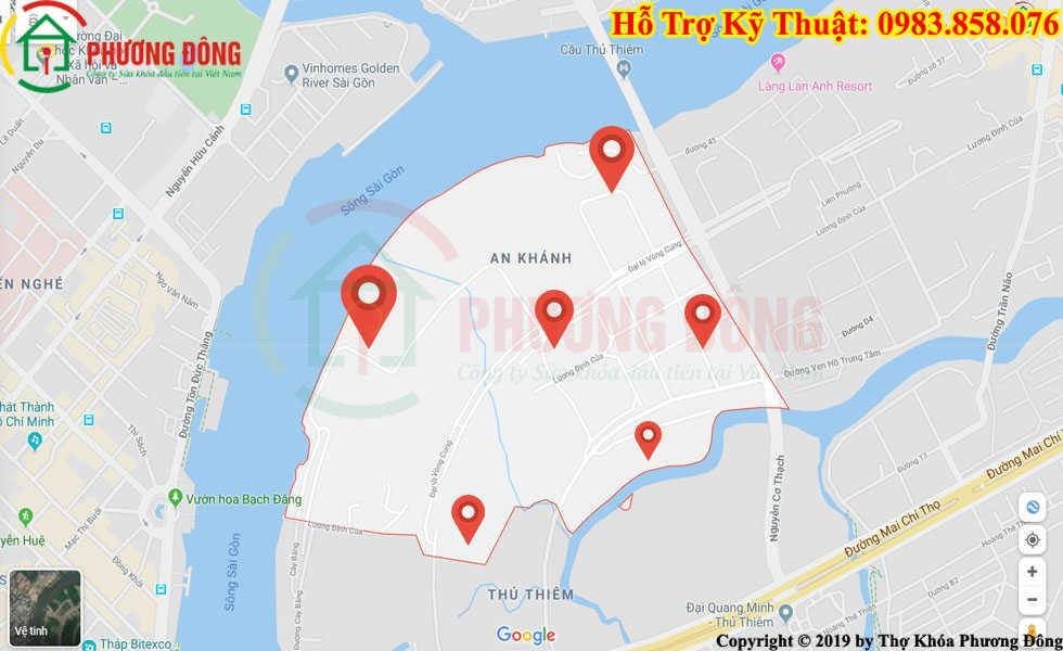 Địa chỉ thợ sửa khóa lưu động tại An Khánh
