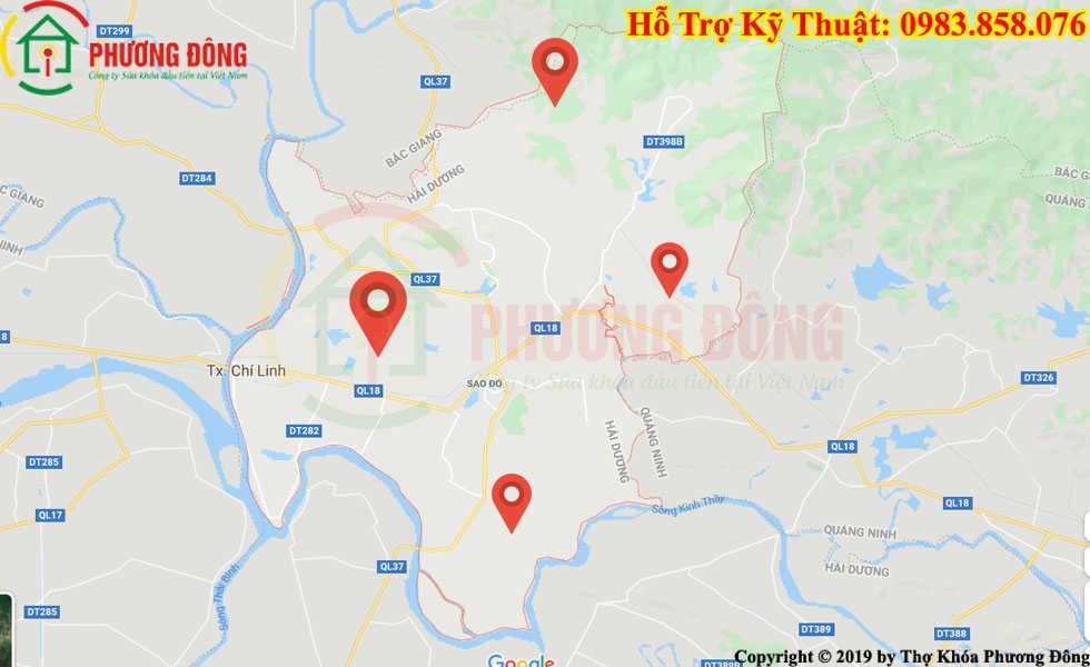 Địa chỉ thợ sửa khóa lưu động tại Chí Linh