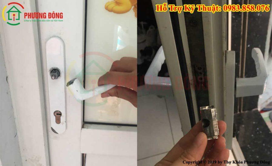 sửa khóa cửa nhựa lõi thép eurowindow