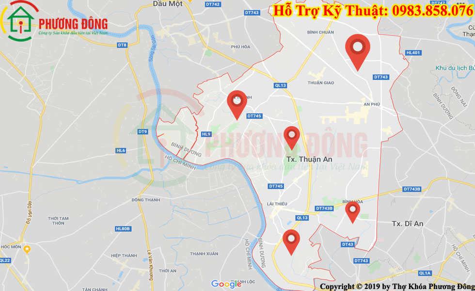 Địa chỉ thợ sửa khóa lưu động tại Thuận An