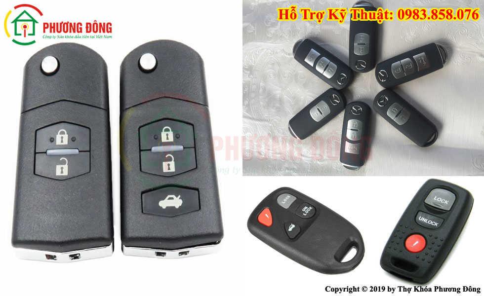 Các loại chìa khóa xe mazda