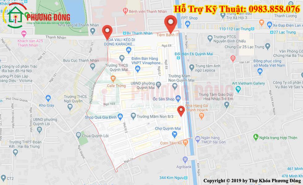 Cửa hàng Sửa khóa tại Quỳnh Mai
