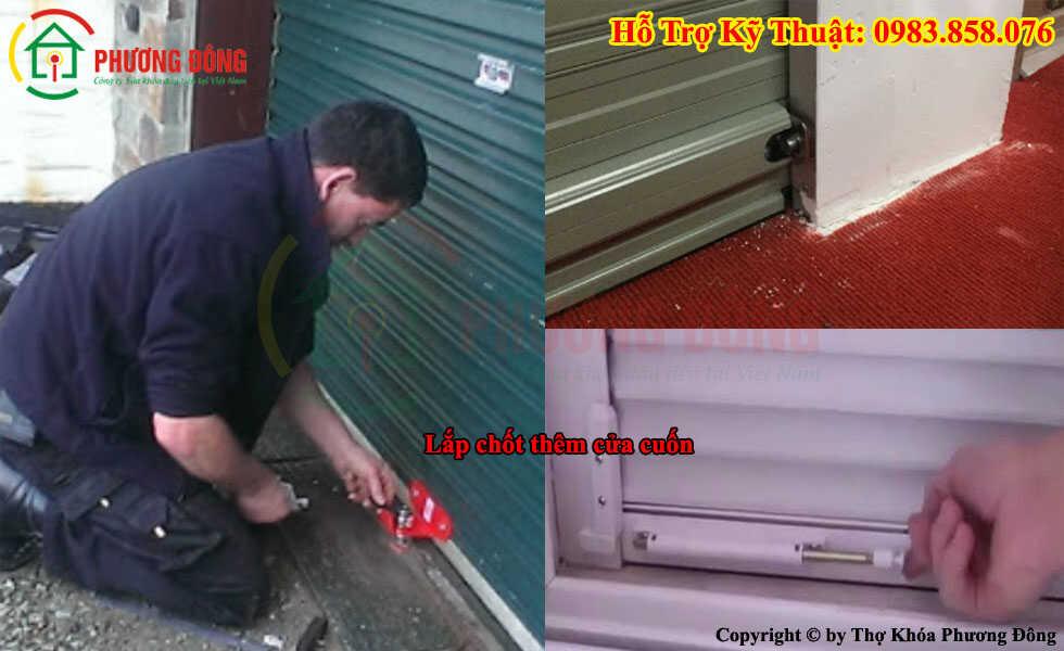 Cách gia cố cửa cuốn chống trộm