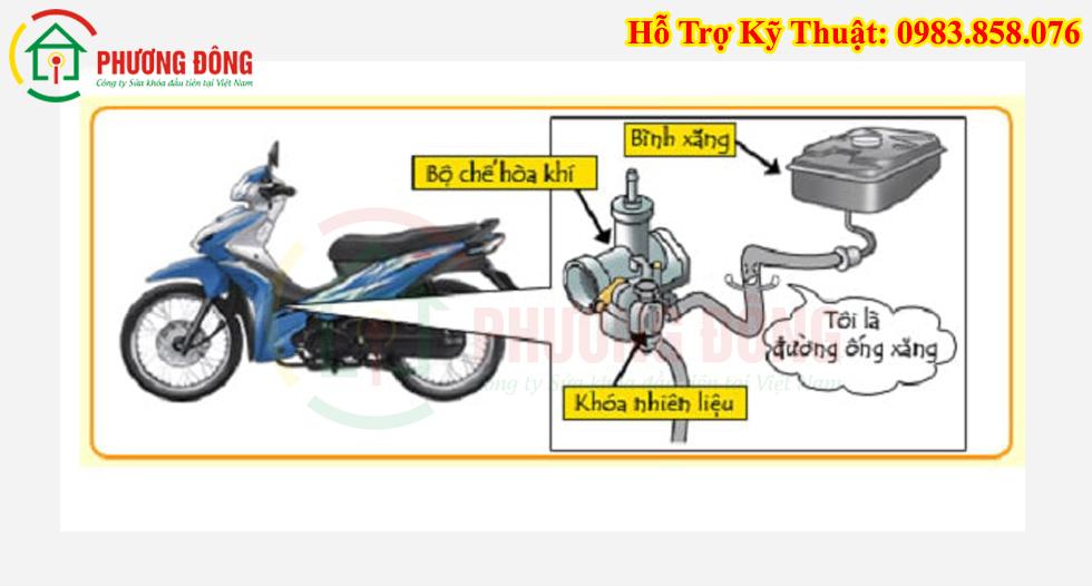 chức năng khóa xăng xe máy