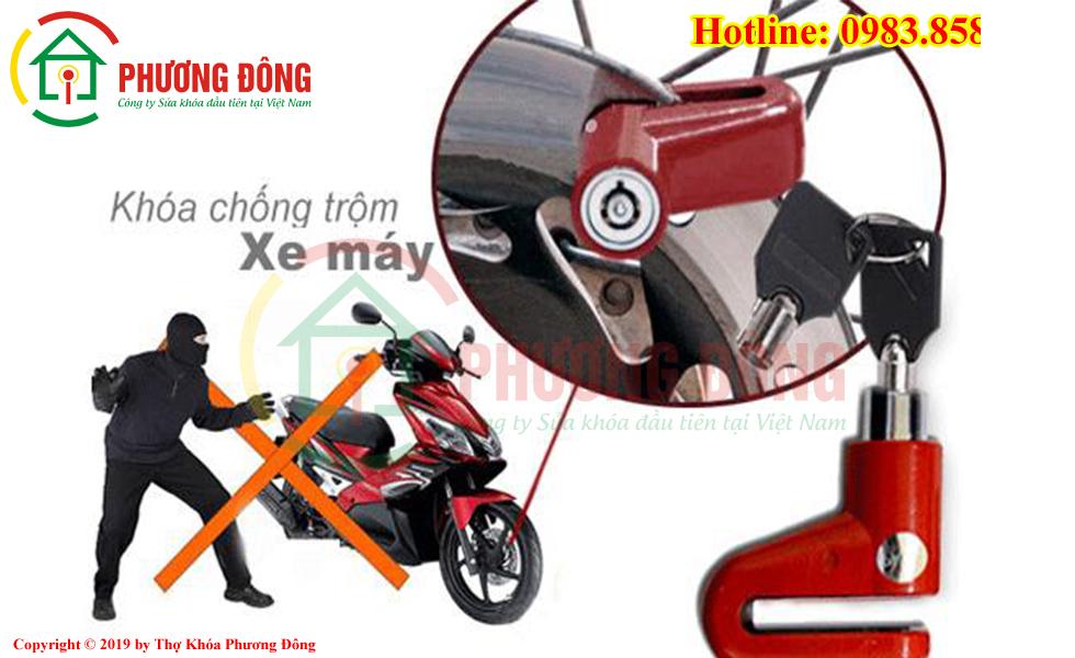 Khóa xe máy có chống trộm