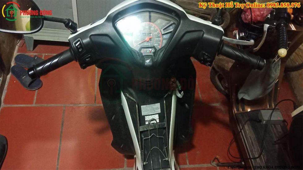 cách khóa cỏ xe máy