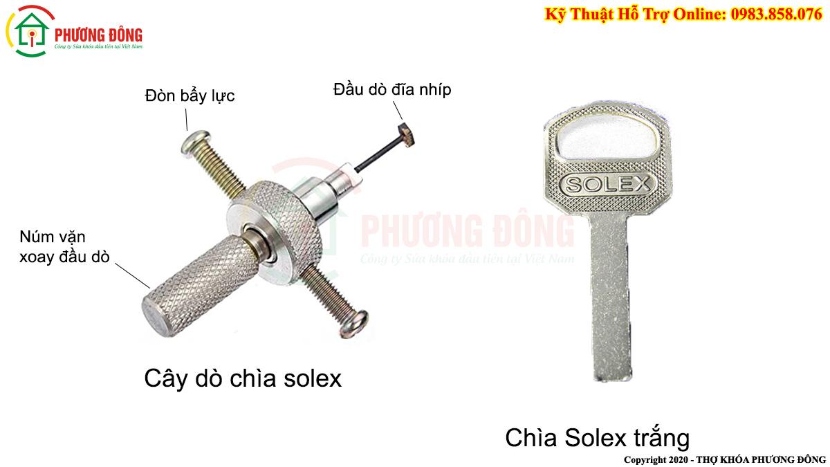 Cây dò chìa Solex và chìa trắng