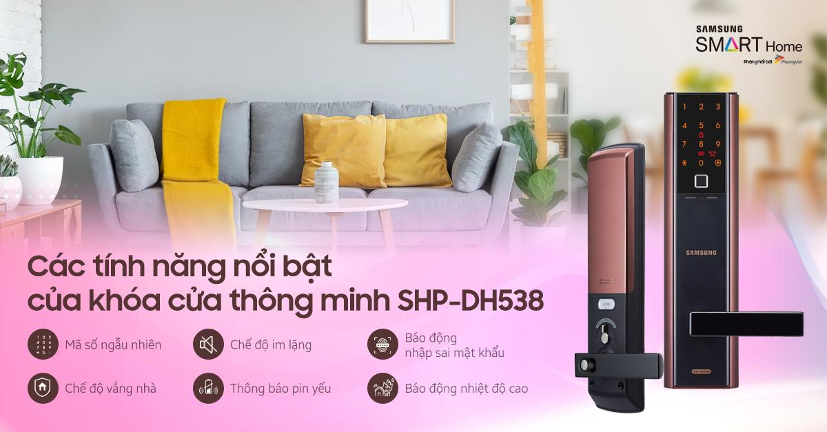 khóa điện Samsung SHP-DH538 tốt nhất