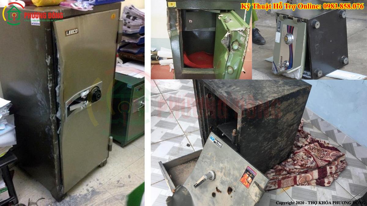 Thợ khóa tay nghề kém mở két sắt
