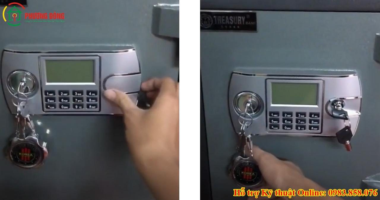 cách mở két sắt bằng chìa khóa phụ